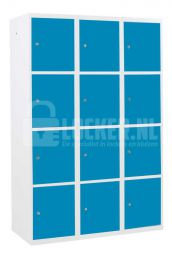 Basic lockerkast XL 12 vaks - lichtblauw