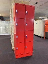 Comguard lockerkast 8 vaks rood