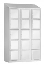 15 vaks locker met acrylglas