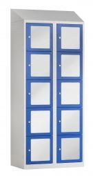 10 vaks locker met acrylglas