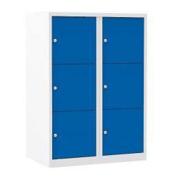 Lockerkast XL halfhoog  6 vaks - blauw