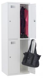 Basis garderobekast 2 x 2 vakken