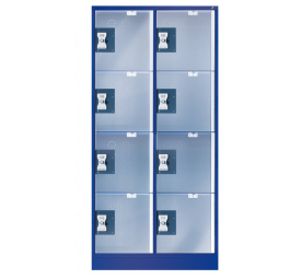 Doorzichtige locker 8 vaks